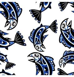 native salmon seamless pattern vector image