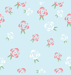 red and white roses seamless pattern dsign vector image vector image