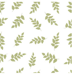 seamless decorative template texture with green vector image vector image