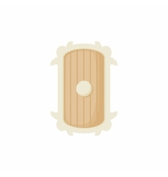 Shield of wood icon cartoon style vector image vector image