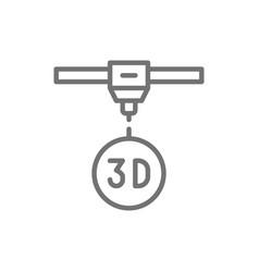 3d modeling industrial printer 3 dimensional vector