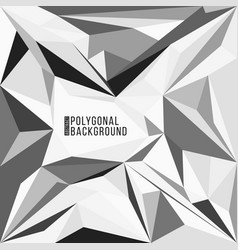 abstract polygonal decoration background vector image