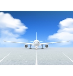 Airplane Runway Poster vector image
