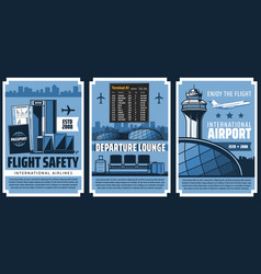 Airport departure terminal and security control vector