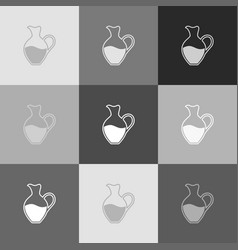 amphora sign grayscale version of popart vector image