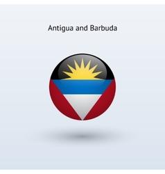Antigua and Barbuda round flag vector image