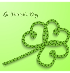 Background with the words St Patricks Day Clover vector image