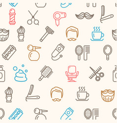 Barber shop pattern background vector