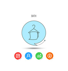 bath towel icon cleaning service sign vector image