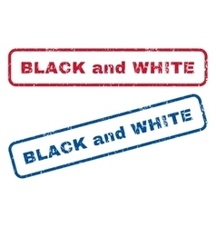Black and White Rubber Stamps vector image