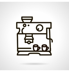 Black line coffee machine icon vector image
