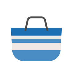 Blue tote bag ison flat design vector