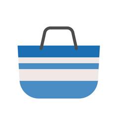 Blue tote bag ison flat design vector