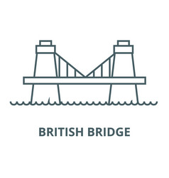 british bridge line icon british bridge vector image