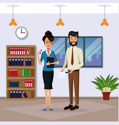 business people in office cartoon vector image
