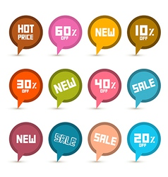Business Stickers - Labels Set with New Title vector image