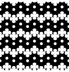Circle and flower white seamless pattern vector image