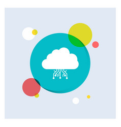 Cloud computing data hosting network white glyph vector