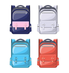 colorful school backpacks vector image