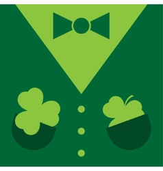 Dark green suit with shamrocks vector