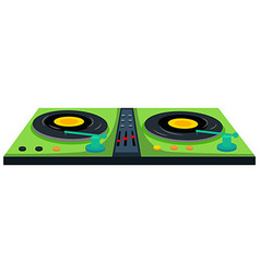 Disc jockey machine with sound control vector