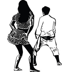 drawing of couples dancing vector image
