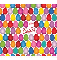 Easter egg seamless pattern festive spring vector