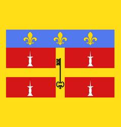 Flag of le mans in sarthe of pays de la loire is vector