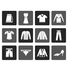 Flat Clothing Icons vector image vector image