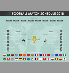 football or soccer cup match schedule vector image