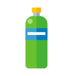 Green Plastic Bottle vector image