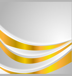 grey and golden colors abstract wavy background vector image