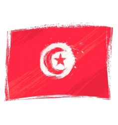 Grunge Tunisia flag vector
