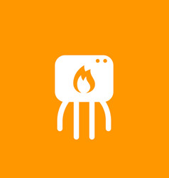 heating system icon pictogram vector image