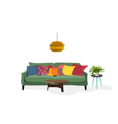 Home interior design elements vector