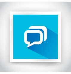 icon message for web and mobile applications vector image