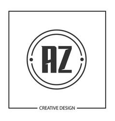 initial letter az logo template design vector image