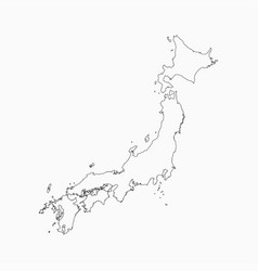 Japan country map japanese islands template vector