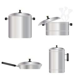 Kitchen dishes vector