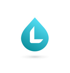 Letter l water drop logo icon design template vector