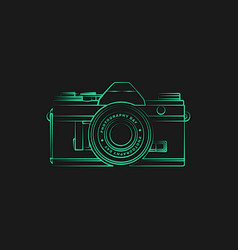 line art design mirrorless camera vector image