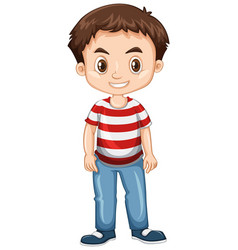 little boy standing alone vector image