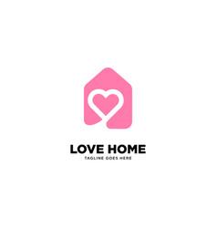 Love home logo template vector