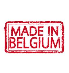 Made in belgium stamp text vector