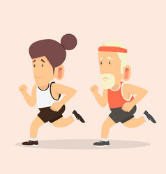 man and woman attractive jogging vector image