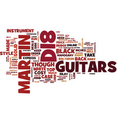 Martin d guitars reviewed text background word vector