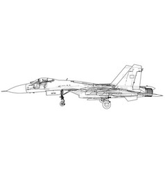 military plane fighter jet vector image