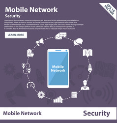 Mobile network security concept banner vector