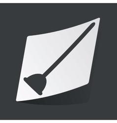 Monochrome plunger sticker vector