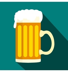Mug beer icon in flat style vector